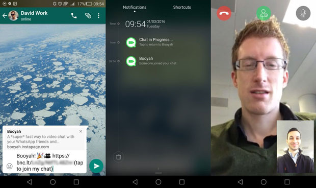 WhatsApp has added video calling facility