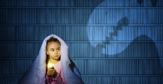 Afraid from darkness