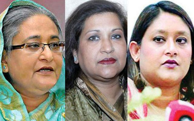 Sheikh Hasina, Sheikh Rehana and Pupil have no Facebook pages