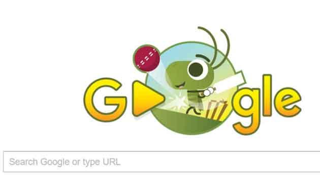 Google Doodle celebrates ICC Champions Trophy