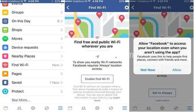Facebook Finds Free WiFi