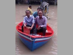 In the Chittagong city road, the boat traveled to the office