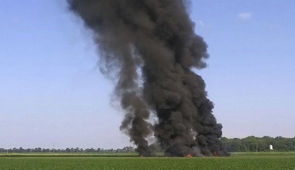 US Military aircraft crashed