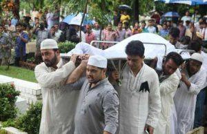 Razzak's funeral is complete