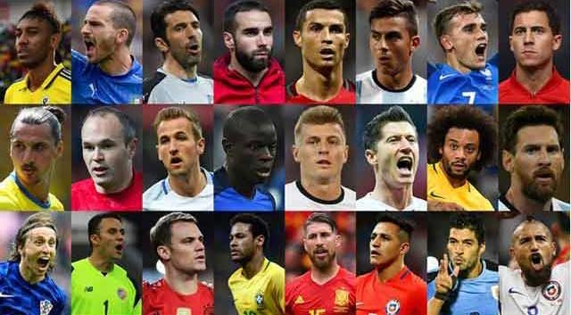 The best 24 footballers on the FIFA ফিফা বর্ষসেরা ২৪