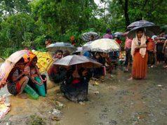 Rohingyas suffer from the rain in Ukhia
