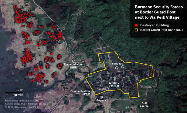 The army is burning the Rohingyas village - Amnesty