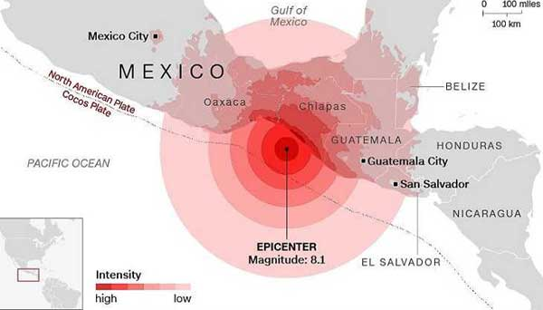 The death toll 61 in Mexico's strong earthquake