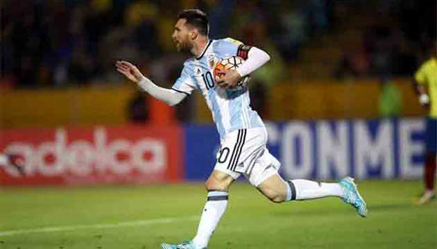 Argentina directly in World Cup for Messi magic