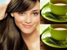 Green tea for long hair