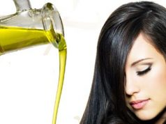 Hair care with olive oil