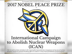 Nobel Peace Prize awarded to anti-nuclear weapons group শান্তির নোবেল