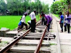Rail communication is closed North-South to Dhaka