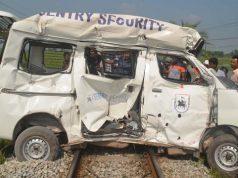 Train collided with a microbus crushed in Comilla, injured 3 কুমিল্লায় ট্রেনের ধাক্কায় মাইক্রোবাস