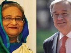 UN Chief phone call PM Sheikh Hasina