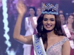 Miss World 2017 Crown Monisy holds