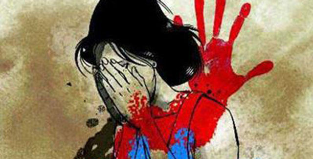 After rape, the girl is tortured with a blade tied on the pillow