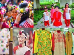 Baishakhi color dress up