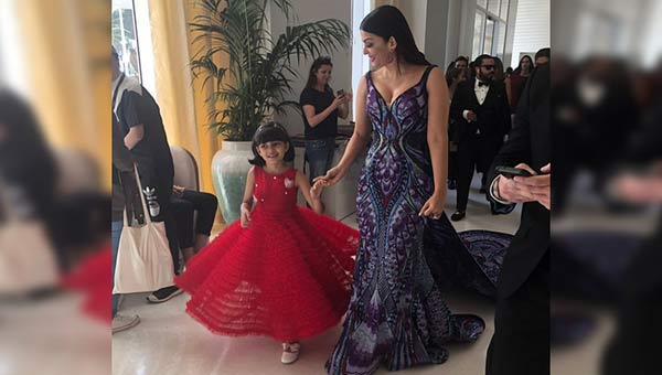 Aishwarya Rai Bachchan Cannes red carpet with butterfly gown