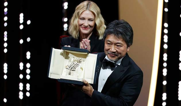 Japanese film Shoplifters wins Palme d'Or