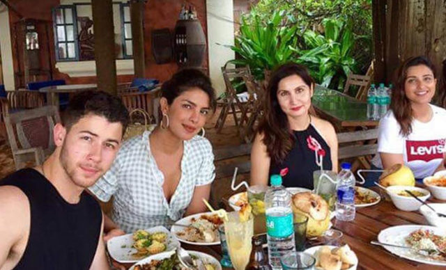 Priyanka at the Goa beach with Nick