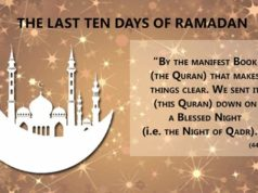 The last ten days of Ramadan